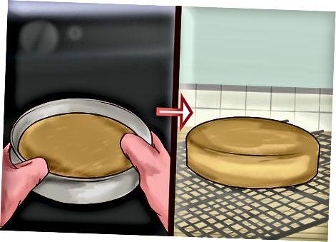 Utilitzant un raig de llançament de pastissos