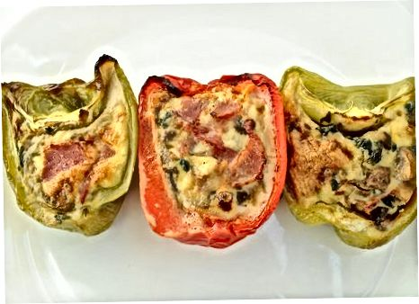 Lage Paleo-frokost fylte paprika