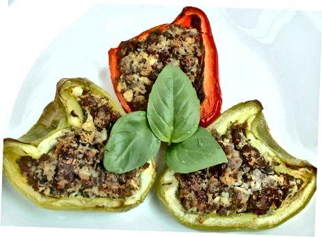 Lager mørbrad-fylte Paleo Peppers