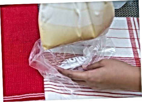 Ledų gaminimas krepšyje arba ledų rutulys