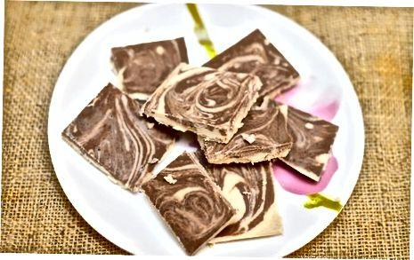 Vegan glutenvrije chocolade pindakaas Fudge Swirl maken