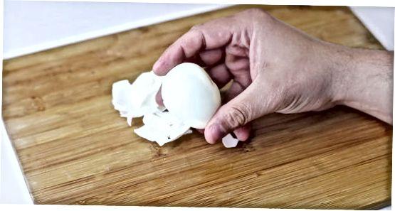 Virtų kiaušinių laikymas vandenyje