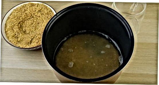 Fazendo Bulgur em um fogão lento