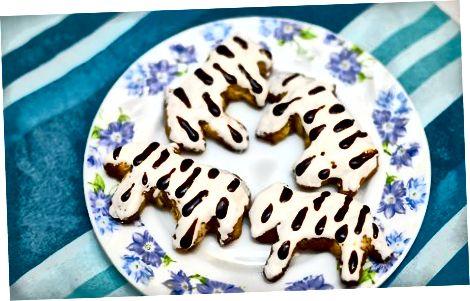 Cookie-larni zebra tasmalari bilan muzlatish