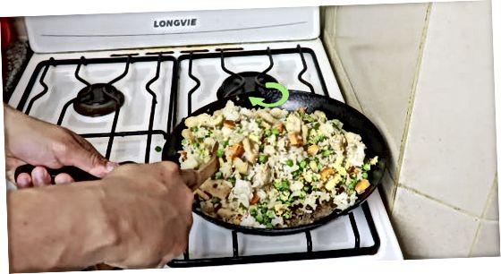 Roerbak de rijst