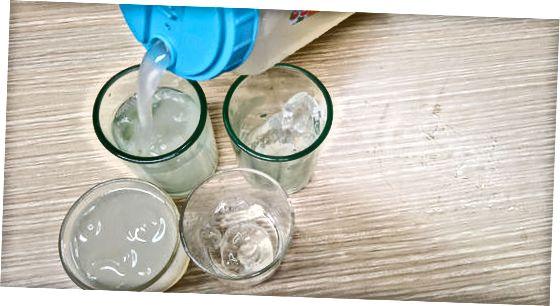 Servindo e armazenando a água de cevada