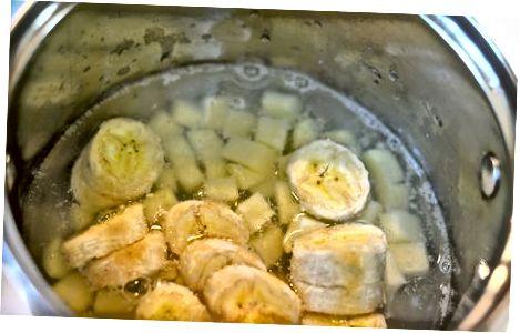 Cassava va plantain Fufu