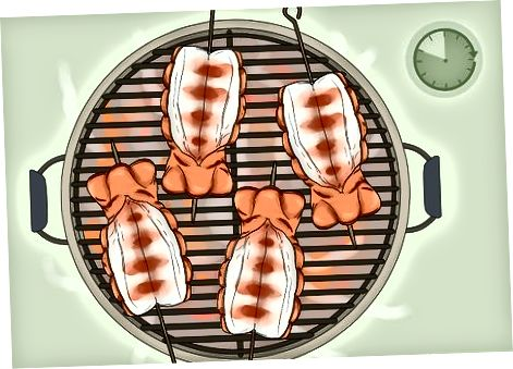 Репови јастога на жару са биљним маслацем