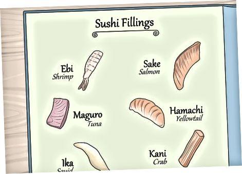 Sushi tipo pasirinkimas