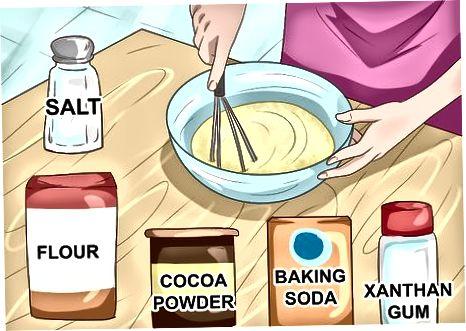 Vegan shokoladli kekni pishirish