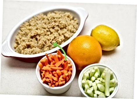 Doplnenie Quinoa o ďalšie prísady