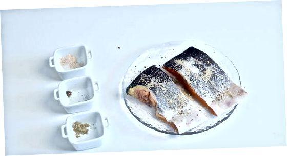Gegrillte Lachsfilets zubereiten
