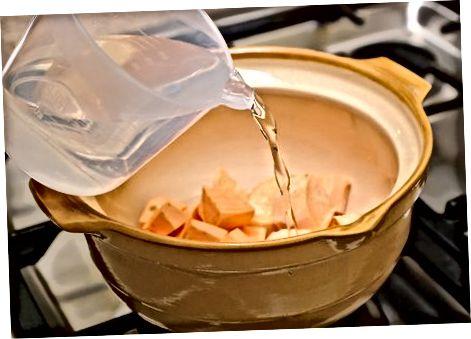 Saldžiųjų bulvių paruošimas