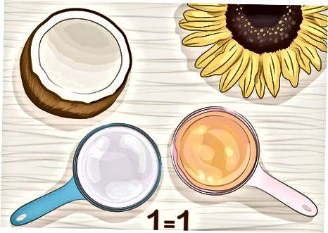 Utilitzant oli de coco a la cocció