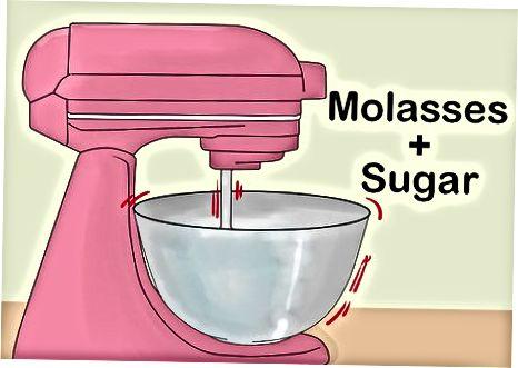 Rudojo cukraus gaminimas naudojant melasą