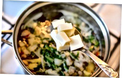 Pagrindinio vegetariško karšto puodo gaminimas