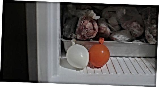 Usando um método fácil de balão de água