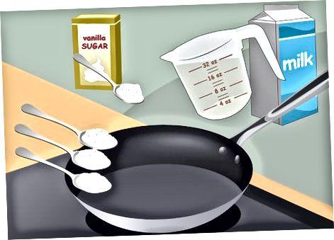 Përgatitja e supës së qumështit me makaronat