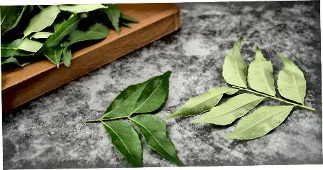 Sautéing Curry Leaves