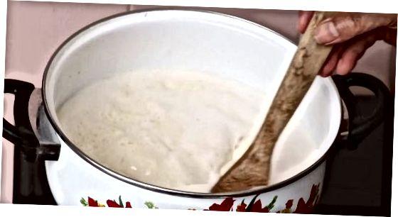 Den Pudding kochen