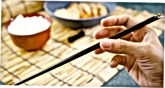 箸を正しく配置する