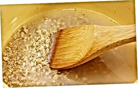 Кување овсених мекиња на плочи за кухање