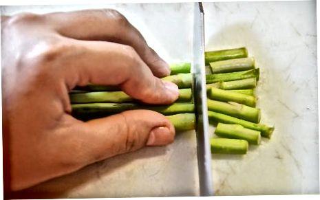 تهیه مارچوبه برای پخت و پز
