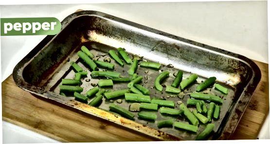 Обсмаження зеленої квасолі