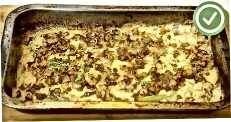 Випічка запіканки із зеленої квасолі