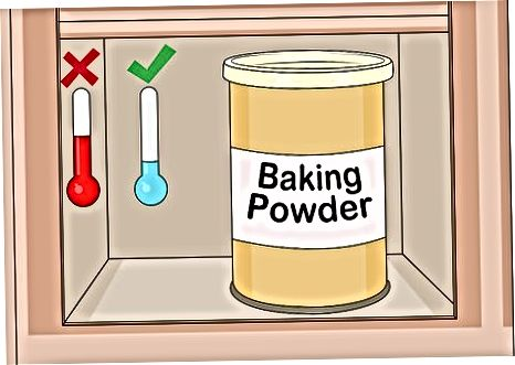 Shranjevanje pecilnega praška