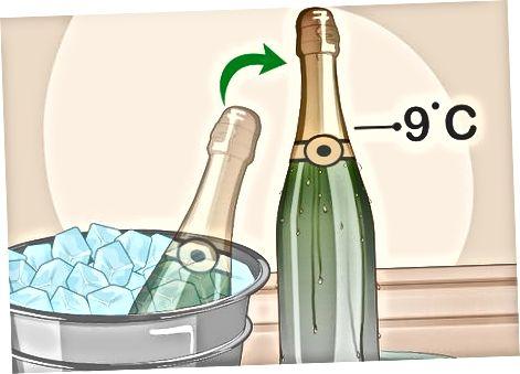 Охлађене боце са шампањцем и чување после