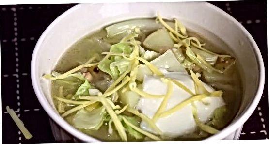 Vegetabilsk kål suppe