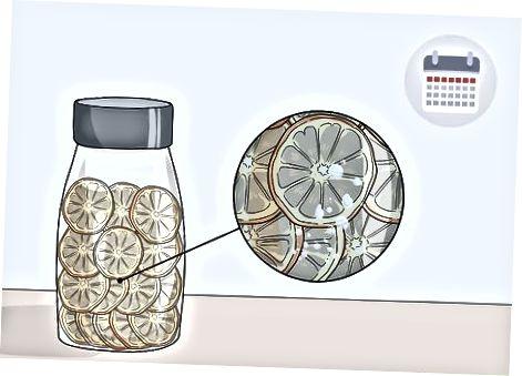 Konditionierung der getrockneten Zitrusscheiben