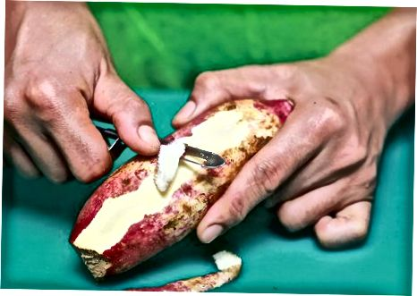 Herstellung von gedämpften Süßkartoffeln
