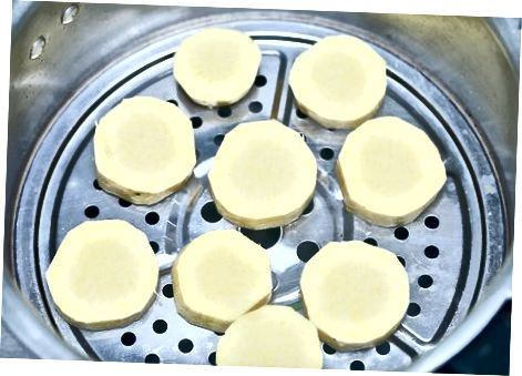 Виготовлення основної пареної солодкої картоплі