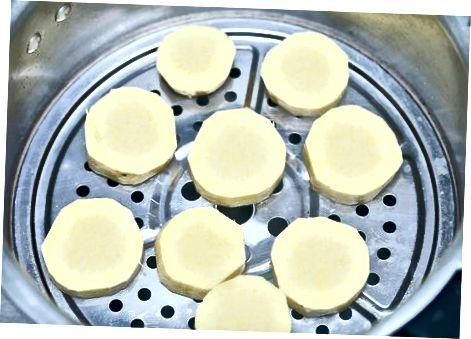 Elaboració de patates dolces al vapor bàsiques