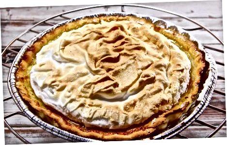 Зберігання пирога безе лимона для короткочасного використання