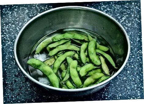 Making Steamed Edamame