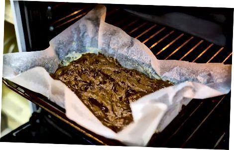 De brownies bakken