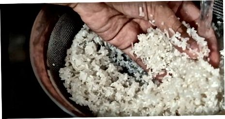 Mischen Sie Ihren Reis und Wasser