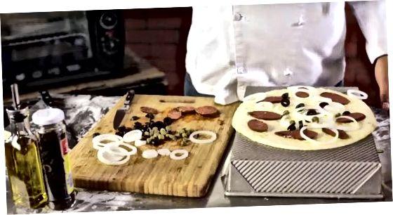 Að búa til hefðbundna pizzu