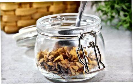 Röstitud Cantaloupe'i seemnete valmistamine