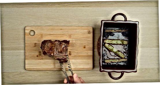 Fleisch kochen und ruhen lassen