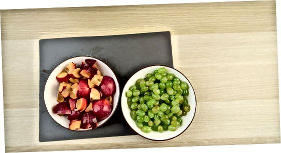 Нарезка и варка фруктов