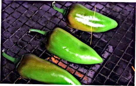 Steiktu Jalapeños á grillinu