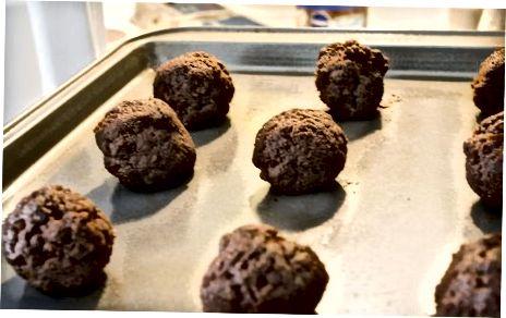 De cakeballen maken