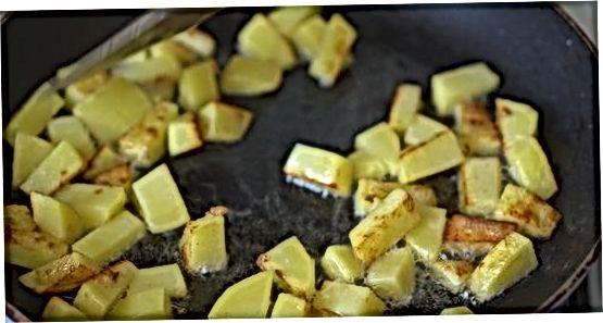 Kabeljau mit Kartoffeln über Reis