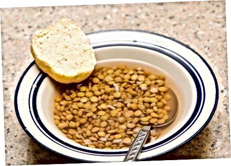 Izdelava juhe iz leče v loncu