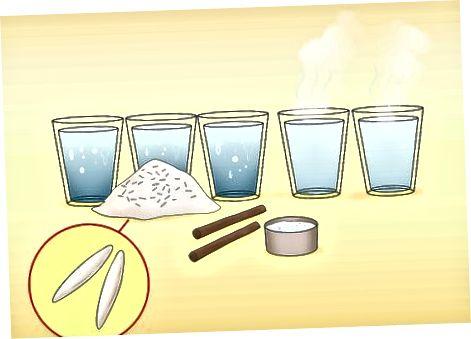 Fazendo arroz Horchata