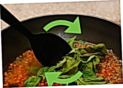 Lęšių sriubos gaminimas vazonėlyje